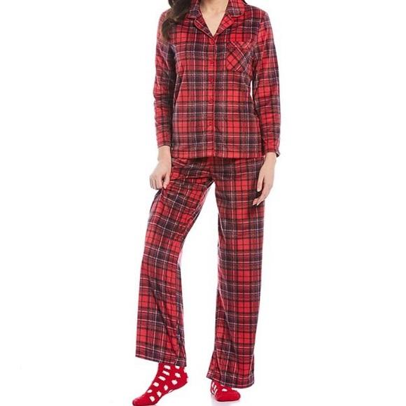 KN Karen Neuburger Live Love Pajama Printed Shirt